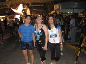 with my running girlfriends
