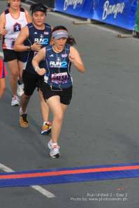 last few steps towards the finish line