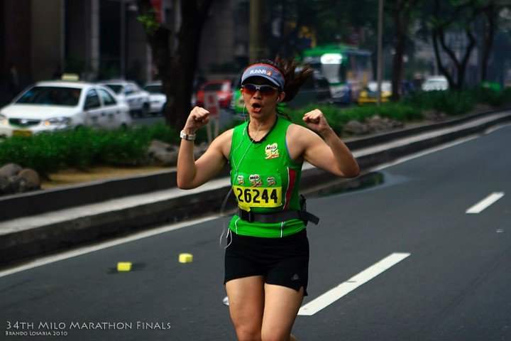 running in action