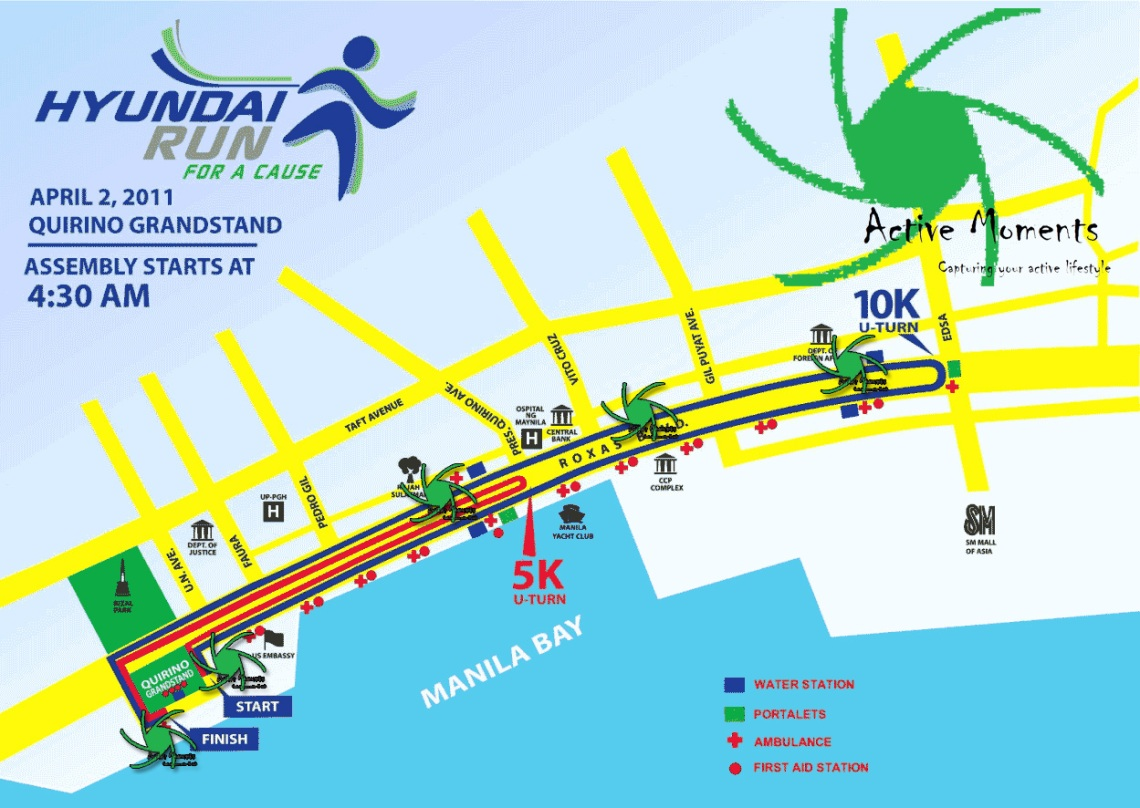 hyundai fun run map