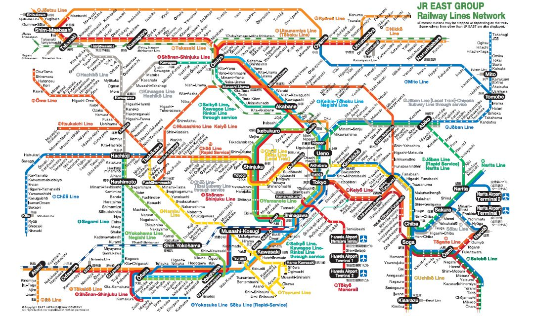 October Anything Everything Under The Sun - Japan map rail